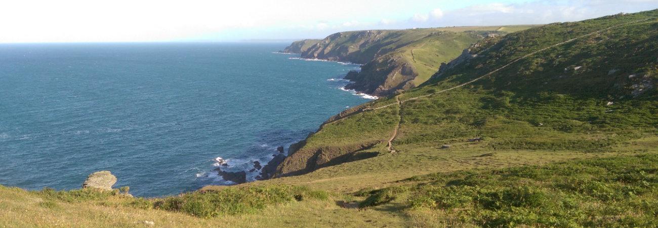 The South West coast path close to Thurlestone